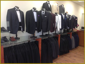 Interior view of Bonaventure Tuxedo - perfect for your last minute tuxedo rental needs