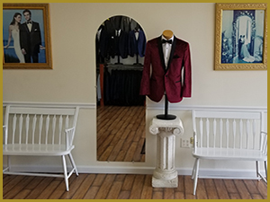 Bonaventure Tuxedo interior store view