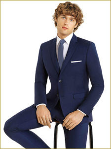 Blue Slim Cut Suit Rentals
