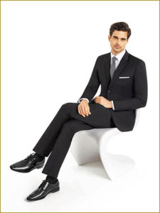 Slim Cut Suit Rentals Black