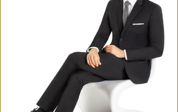Black Slim Cut Suit