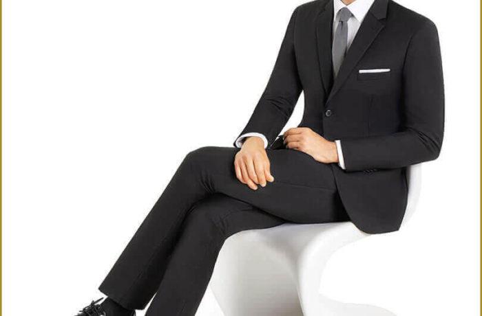 Black Slim Cut Suit
