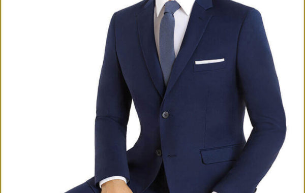 Dark Blue Slim Cut Suit