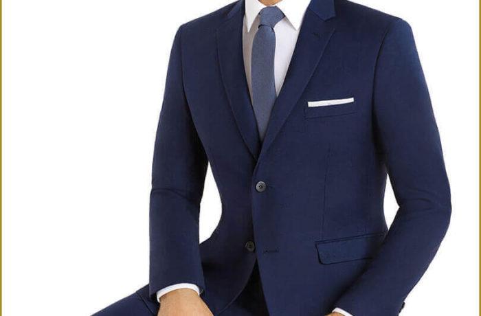Dark Blue Slim Cut Suit