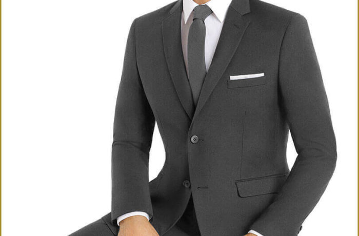 Dark Grey Slim Cut Suit
