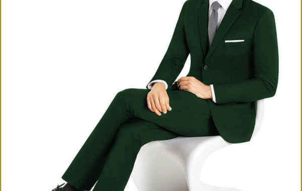 Green Slim Cut Suit