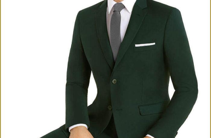 Green Slim Cut Suit