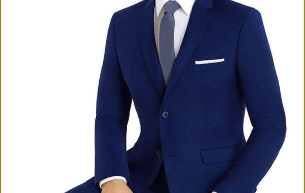 Light Blue Slim Cut Suit