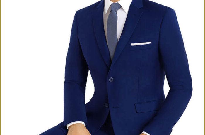 Light Blue Slim Cut Suit