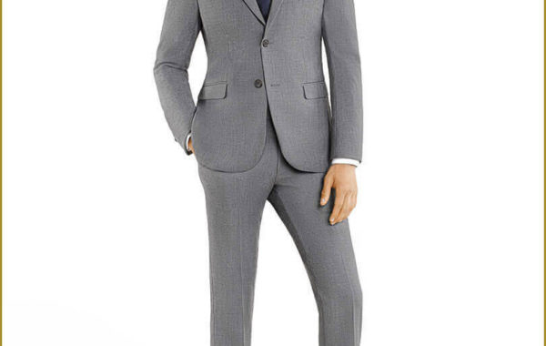 Light Grey Slim Cut Suit