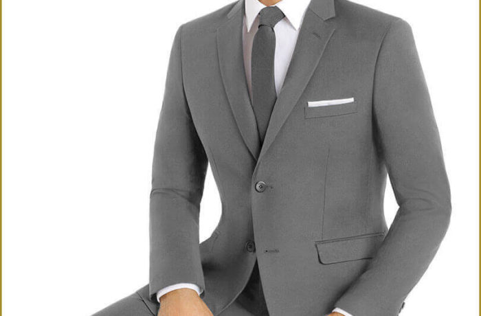 Light Grey Slim Cut Suit