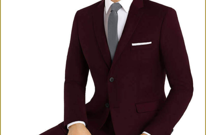 Maroon Slim Cut Suit
